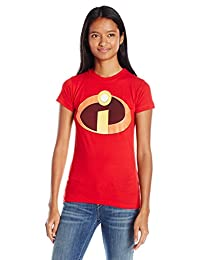 Disney Womens The Incredibles Logo Graphic Tee T-Shirt
