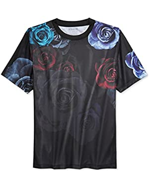 Mens Mesh Floral Graphic T-Shirt