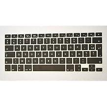 "Bodu New Arrival AZERTY French Canadian Keyboard Cover Anti Dust Skin for Apple MacBook Pro 13"" 15"" 17"" Aluminum Unibody & MacBook Air 13"" EU/UK European/ISO Keyboard Layout (Black)"