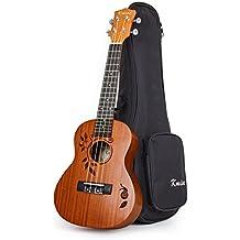 Kmise Concert Ukulele Uke Acoustic Hawaiian Guitar 23 Inch 18 Frets Mahagany With Bag