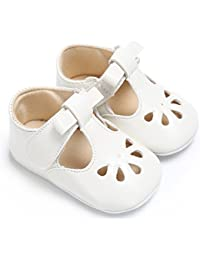Baby Girls Soft Sole Bowknot Mary Jane Princess Shoes (Infant)