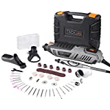 Low Price Rotary Tool Kit 18 Amp Variable Speed With Upgraded Flex Shaft 63 Accessories 3 Attachments Carrying Case Multi functional For Around the house And Crafting Projects Rtd36ac