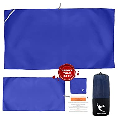 Sport4relaX Premium Camping Microfiber Towels and Sport Towel (Set of 3)