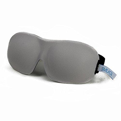 Smug Active Contoured Sports Therapy 3D Blackout Sleep Mask, Gray
