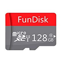 FunDisk 128GB Class 10 Micro SD Card Memory Card SDHC SDXC TF Card with Adapter