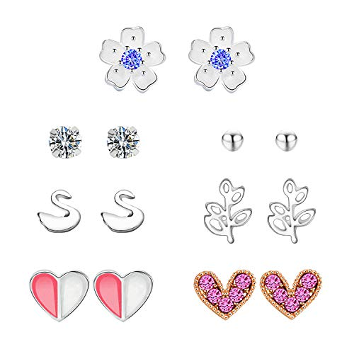 7 PAIR OF GIRL'S STUD EARRINGS