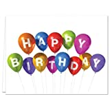 24 Birthday Cards for $14.99 - Balloon Celebration - Blank Cards - Yellow Envelopes Included