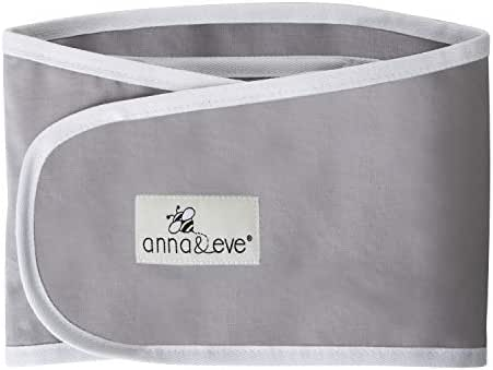 Anna & Eve - Baby Swaddle Strap, Adjustable Arms Only Wrap for Safe Sleeping - Grey, Large