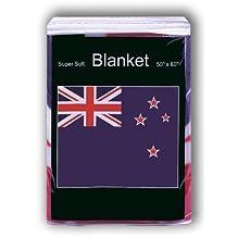 New Zealand Flag Fleece Blanket 5 ft x 4.2 ft. *NEW* Throw Cover Bedding
