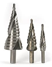 Preamer HSS6542 / M2 Steel Spiral Groove Step Drill Bit Set, 3 Pics, Stainless Steel Cutting Tool