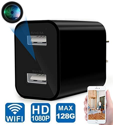 Spy Camera - WiFi Hidden Camera - USB Charger Camera with Remote