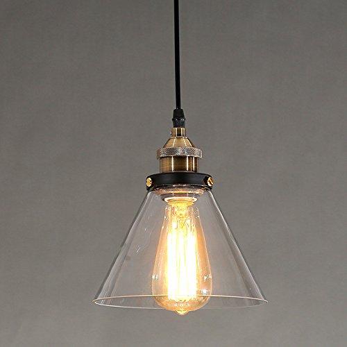 Beakjiful E27 suspension lustre Verre suspension lustre lumière, 25  23 cm, 3