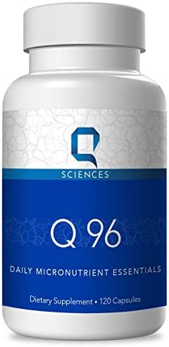 Q Sciences Q96 Micronutrients - Improve Brain Function And Boost Mood, Mood Enhancement Supplement Stabilizer, Multivitamins for Improved Mental Clarity, Focus, and Brain Health, 120 Capsules