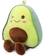 RAINBEAN Gevulde Avocado Pluche Teddy 16,5 inch, Fruit Soft Knuffel Knuffelen Kussen met Voet, Geschenken voor Kids Meisje Jongen en Vrienden Kerstmis