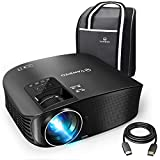 "VANKYO Leisure 510 Projector, Full HD Video Projector with 200"" Projection Size, Support 1080P HDMI VGA AV USB with Free HDMI Cable and Carrying Bag (1-Black)"