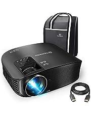 VANKYO Leisure 510 Beamer 3600 Lumen,Full HD Heimkino Beamr mit 200 Zoll Projektionsgröße 5000 Stunde Video Projektor ,Unterstützt Fire TV, Smartphone, Laptop, Pad, mit HDMI-Kabel, weiß