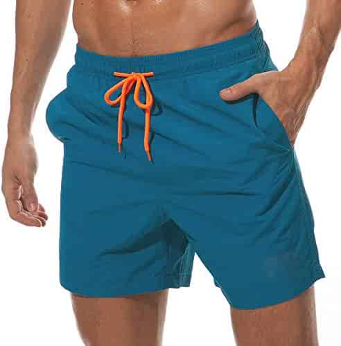 17a40e29d2009 Vogyal Men's Swim Trunks Quick Dry Bathing Suit Beach Shorts with Mesh  Lining