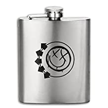 Blink-182 Big Smile Logo Hip Flask Portable Flagon Outdoor With Funnel For Tourism Or Camping