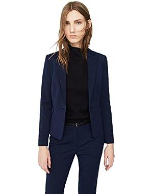 Mango Women's Patterned Suit Blazer