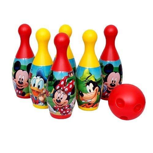 ARHA IINTERNATIONAL 6 Pins 1 Ball Plastic Bowling Set for Indoor & Outdoor Games for Kids Children