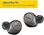 Jabra Elite 75t Earbuds – True Wireless Earbuds with Charging Case, Titanium Black – Bluetooth Earbuds with a