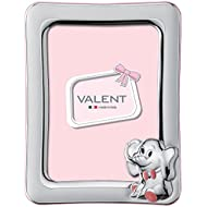 Silver Touch USA .925 Sterling Pi Counture Frame Elephant, Pink