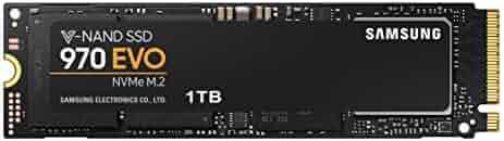 Samsung 970 EVO 1TB - NVMe PCIe M.2 2280 SSD (MZ-V7E1T0BW)