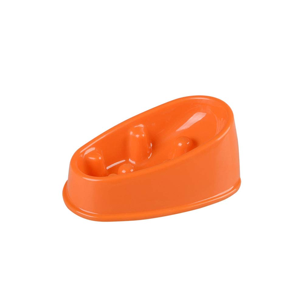 orange 9.263.6 orange 9.263.6 Anti-mite Slow Feed Dog Bowl, Slope Slow Feeder Pet Bowl, Green BPA Free Medium Pink Small Medium Dog Available (color   orange, Size   9.2  6  3.6)