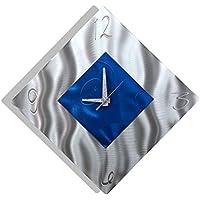 Blue Metal Decorative Wall Clock, Abstract Modern Clock...