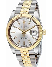 Datejust41 Silver Dial Steel and 18K Yellow Gold Jubilee Mens Watch 126333SSJ. Rolex
