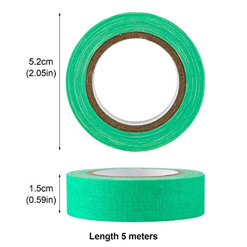 Koogel Fluorescent Cloth Tape, 12 Roll 6 Coloured Neon Gaffer Tape UV Blacklight Reactive Tape for Party Supplies Stage Decoration