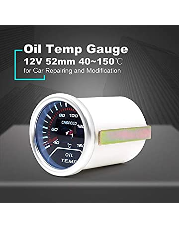 CNSPEED 12V 150℃ Auto Car LED Digital Oil Temp Gauge Meter 52mm Smoke Lens Temperature