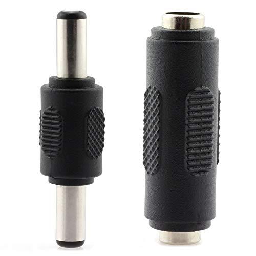 TOTOT 4pcs 5.5x2.1mm DC Power Plug Connector CCTV DC Power Plug Adaptor (2pcs Male to Male + 2pcs Female to Female)