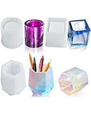 3 pcs Pot Silicone Mold, Kalolary Cube and Cylinder Silicone Molds, Makeup Brush Holder Organizer Epoxy Mold, DIY Flower Pot Molds, planter pot mold, pen holder molds