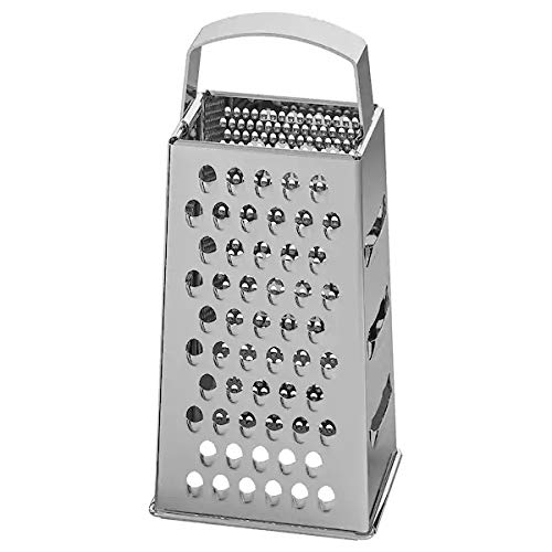 Ikea IDEALISK Grater, Stainless Steel(Length: 0.120 m (4 3/4″) Width: 0.100 m (3 7/8″) Height: 0.200 m (7 7/8″) with TSS Cotton Balls(5 Pieces) Price & Reviews