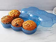 Muffin Fresh Container by Touch Up Cup - 6 Fresh Muffin Keeper, Holder & Airtight Kitchen and Pantry Stora