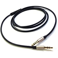 Black New Replacement cable with remote and mic for iphone to Audio Technica ATH-RE700 ANC29 OX7AMP ATH-ANC9 29 7 70 7B 25