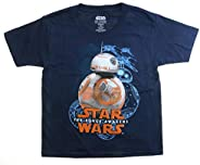 Disney Star Wars The Force Awakens BB-8 camiseta azul marinho jovem
