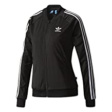 adidas Originals Women's Superstar Track Top, Black, M/M