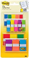 Post-it Flags Assorted Color Combo Pack, 320 Flags Total, 200 1-Inch Wide Flags and 120 .5-Inch Wide Flags, 4 On-The-Go...