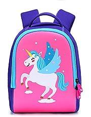 Meng Xiao Miao Kids Backpack, Unicorn Toddler Baby Backpack Kindergarten Children Cartoon Pre School Bags Boys Girls Gift Schoolbag, 1-3Years Old (S)