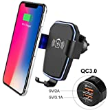 Wireless Car Charger - 10W Qi Fast Charging Car Mount,Gravity Air Vent Phone Holder Charger Compatible iPhoneX XS,XR,XS Max,iPhone8/8+,Samsung Galaxy S9,S9+,S8,S8+,S7,S7Edge,Note9,Note8