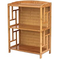 JX&BOOS Bookcase,Solid wood bamboo bookshelf chinese antique bookshelves simple combination bookrack-D 50x30x70cm(20x12x28)