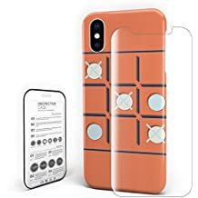 Phone Cases for iPhone X Shock Absorption Anti-Scratch Technology Soft Unique Cover - Chess Game Pattern, 5.8 inch