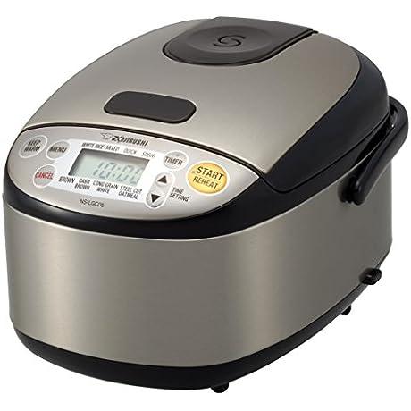 Zojirushi NS LGC05XB Micom Rice Cooker Warmer Stainless Black