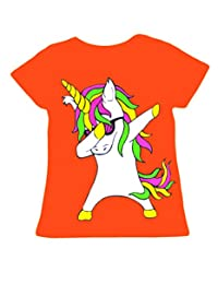 Girls Unicorn Top Kids Long Sleeve Black Grey T Shirt Jumper Ages 2-13 Years