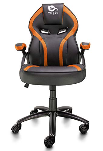 Talius Silla Cobra Gaming, Brazos fijos, Butterfly, Base Metal, Ruedas 60mm Nylon, Gas (Naranja)