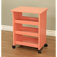 Frenchi Home Furnishing All Purpose RollingTable, Orange Finish
