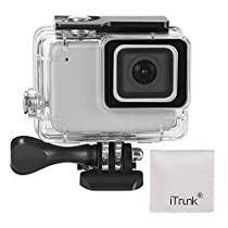 iTrunk Waterproof Housing Case Compatible for GoPro Hero 7 Silver White 45m Underwater Protective Diving Case Shell with Bracket Accessories Compatible for GoPro Hero 7 Silver WhiteAction Camera