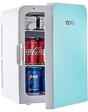 VEVOR Mini Fridge, 15 Liter /10 Liter Portable Cooler Warmer, Skincare Fridge, Compact Refrigerator, Lightweight Beauty Fridge, for Bedroom Office Car Boat Dorm Skincare (110V/12V) (Blue, 15L)